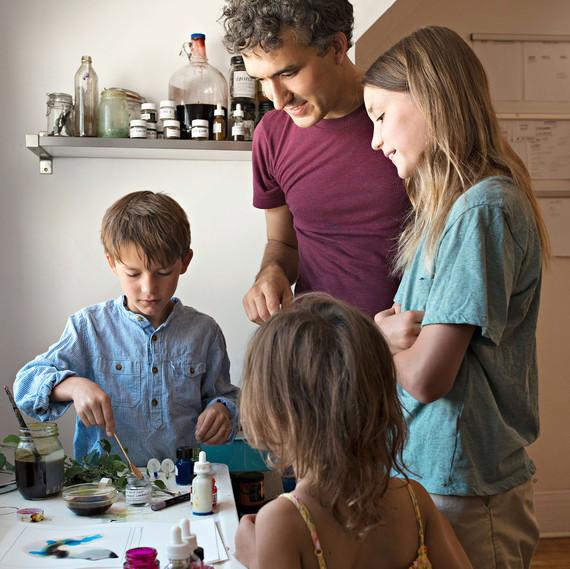 jason logan painting with kids