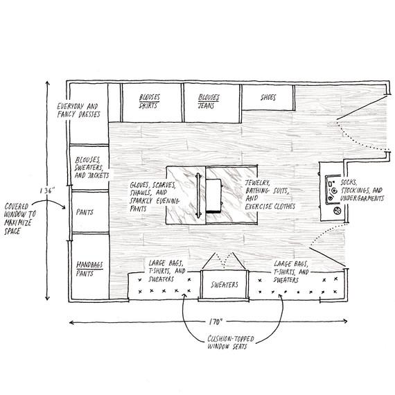 martha closet sketch