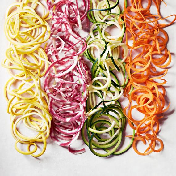 spiralized veggie noodles