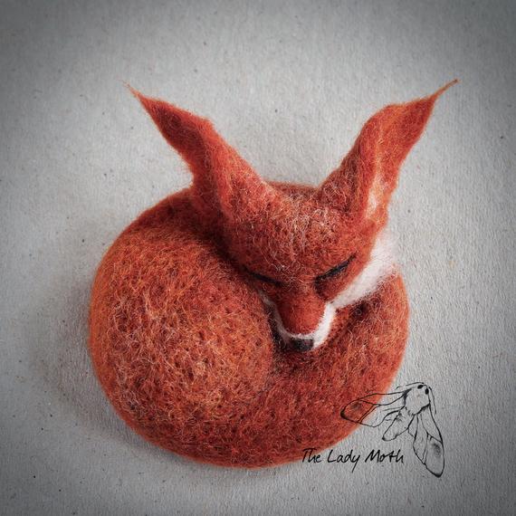 needle-felted fox