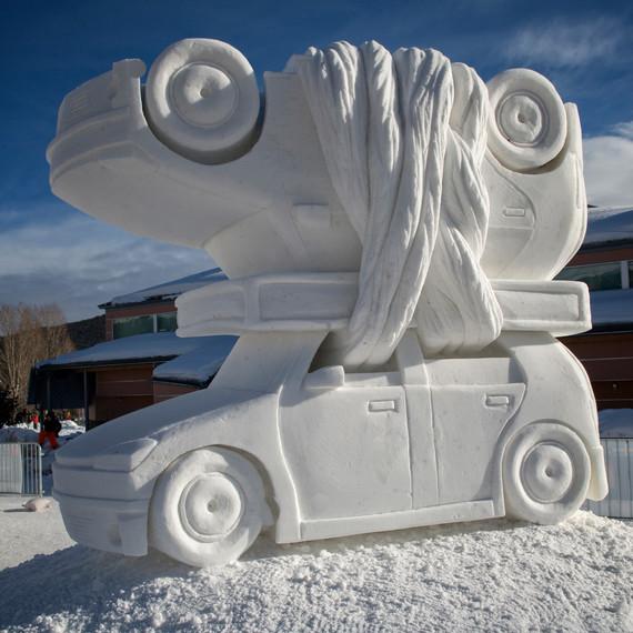 Breckenridge Colorado Car Snow Sculpture