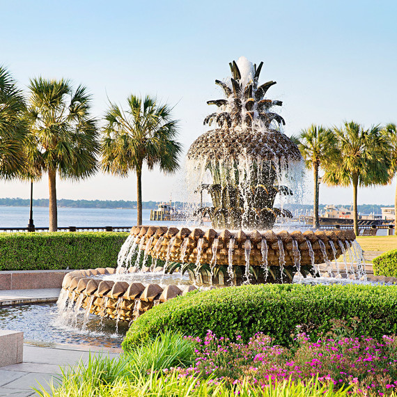 pineapple fountain waterfront park charleston
