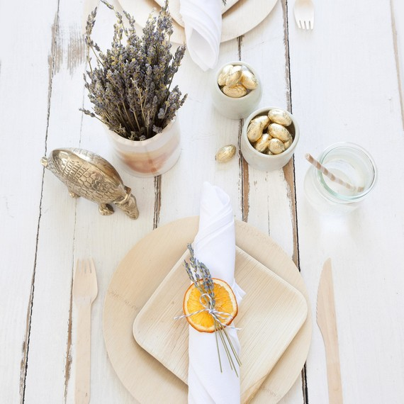 single setting at table