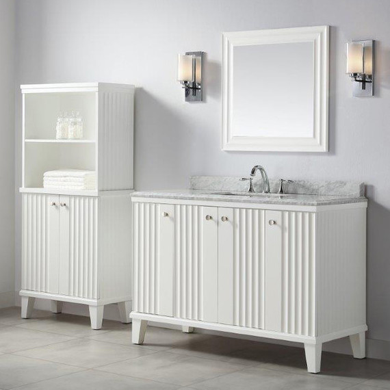 These bath vanities deliver on storage and style martha stewart Martha stewart bathroom collection