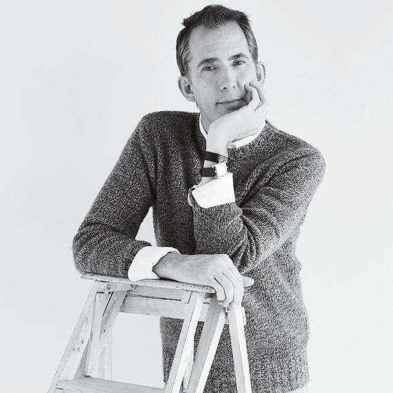 portrait of kevin sharkey leaning on ladder