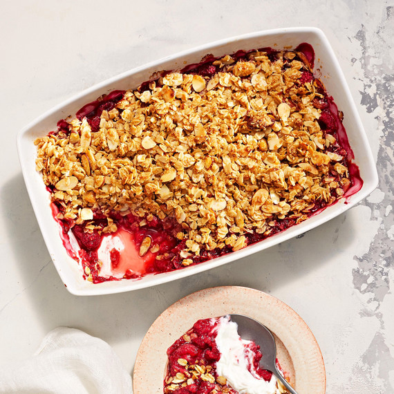 raspberry almond crisp