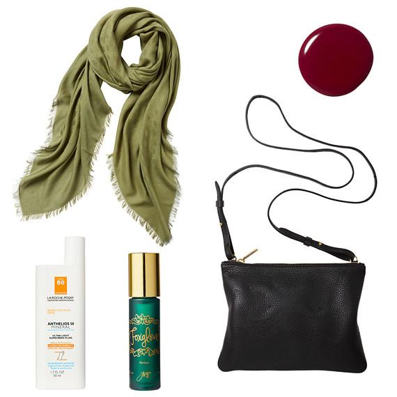 scarf purse color perfume