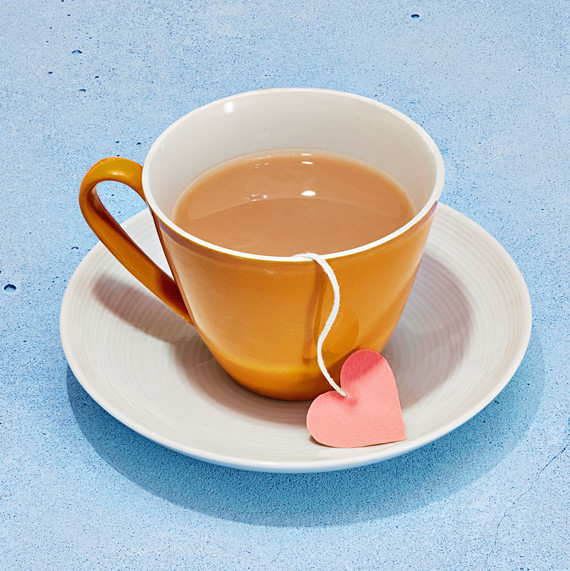 self love cup of tea heart