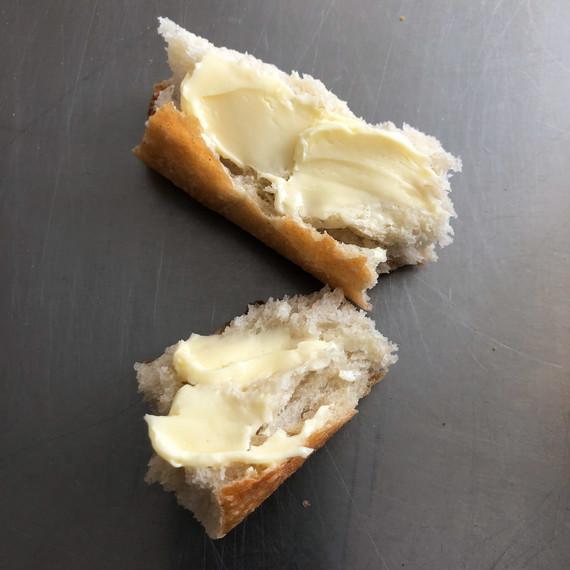 vermont creamery butter spread on bread