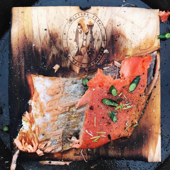 cedar plank salmon drifters fish