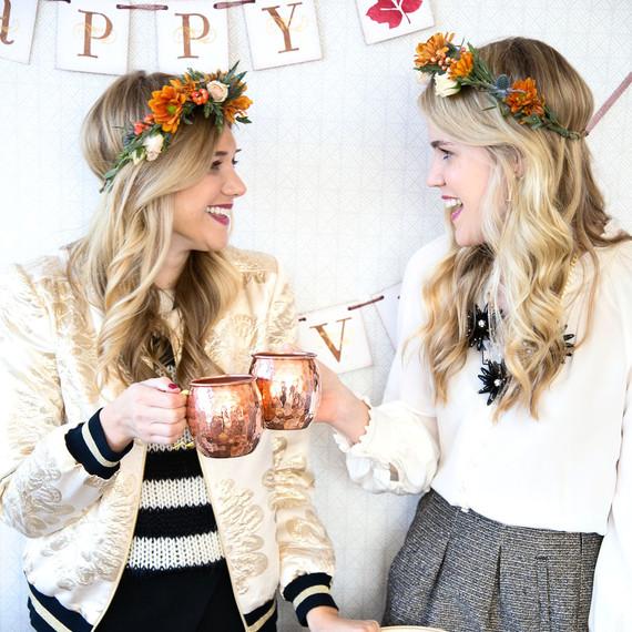 flower crowns friendsgiving