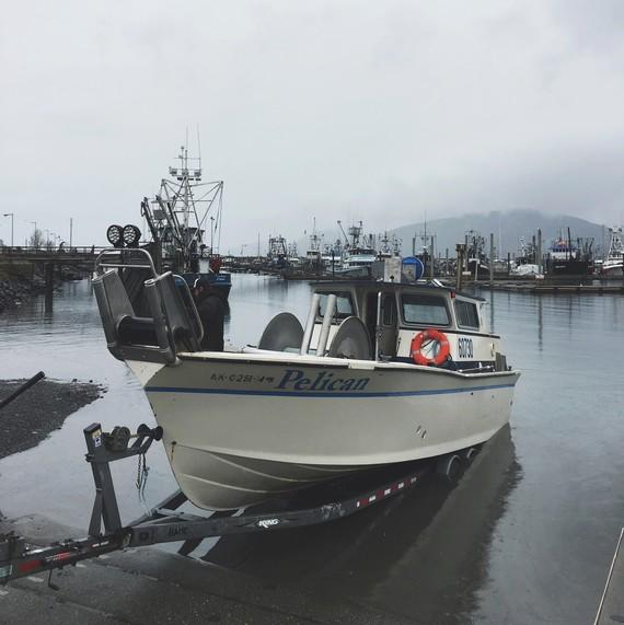 salmon fishing boat foggy alaska