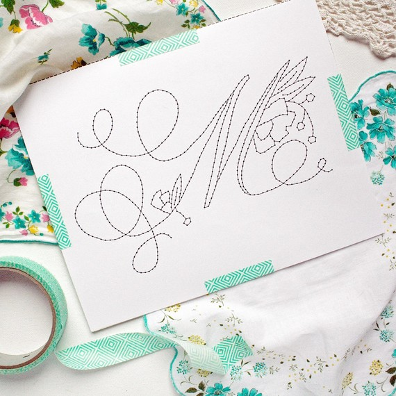 embroidered monogram step 2 tape