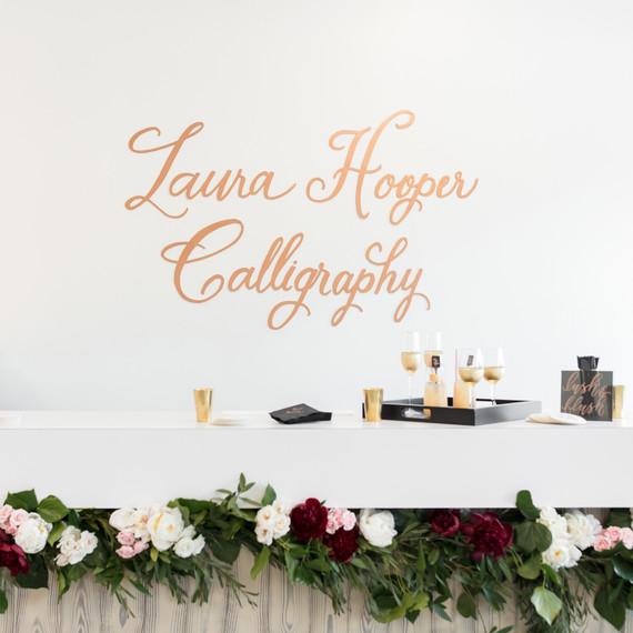 Laura Hooper calligraphy party