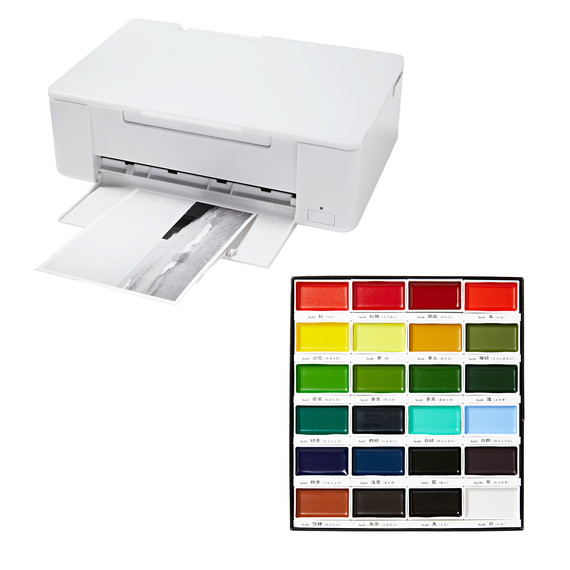 printer and paints