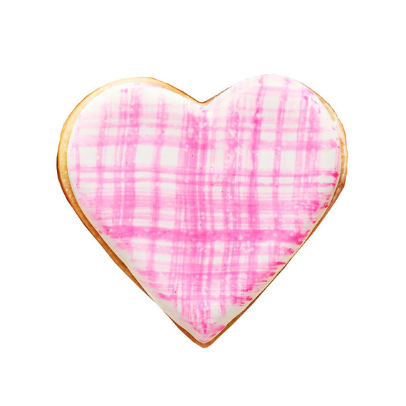 painted heart sugar cookie