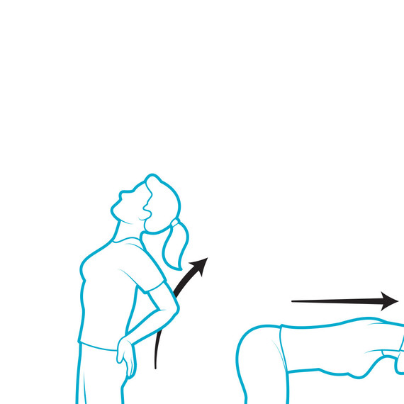 illustration posture stretches cooking dinner