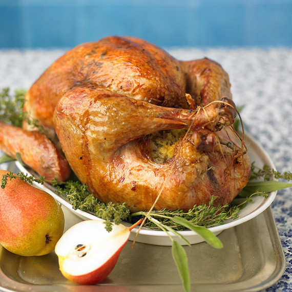 roast turkey with herb butter