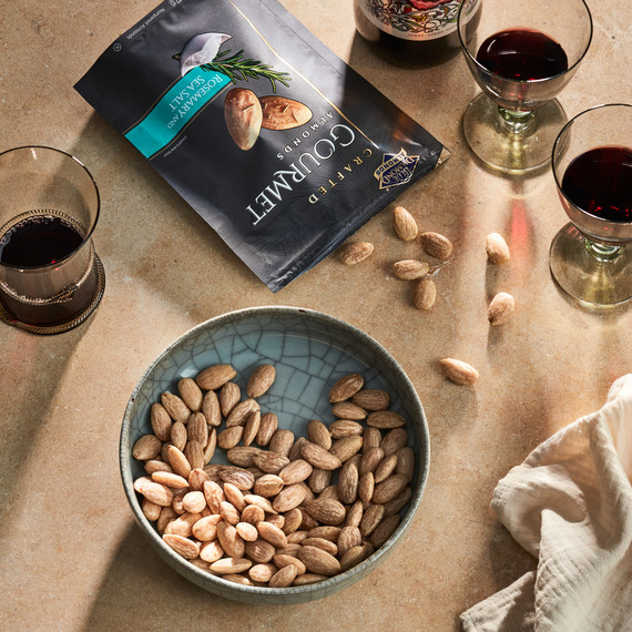 blue diamond almonds and wine