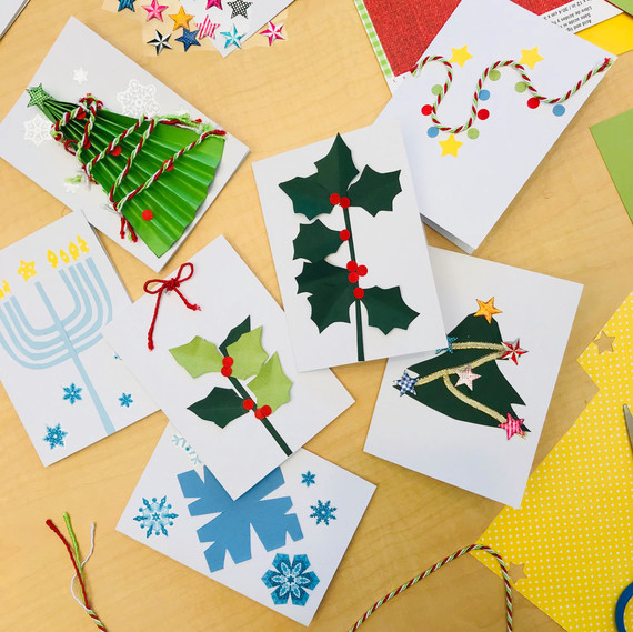 cards for kids crafternoon - Holiday Cards For Charity