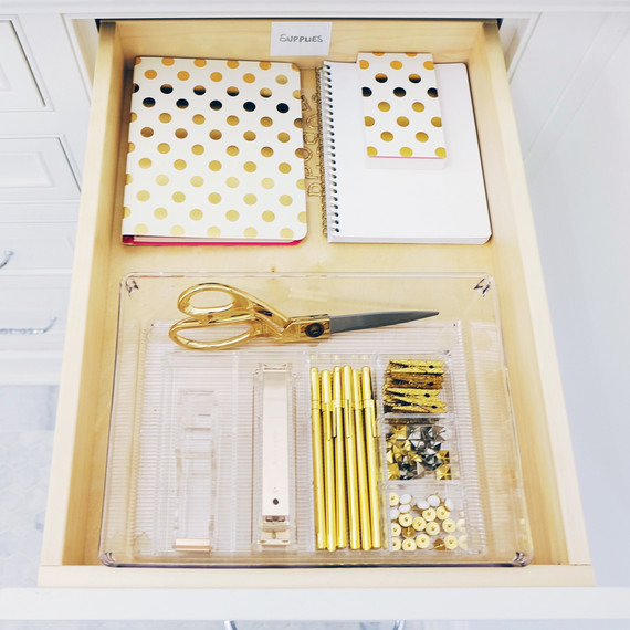 the home edit organized office drawer