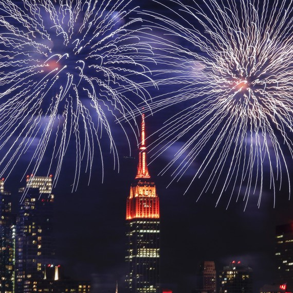 Lunar New Year fireworks in New York City