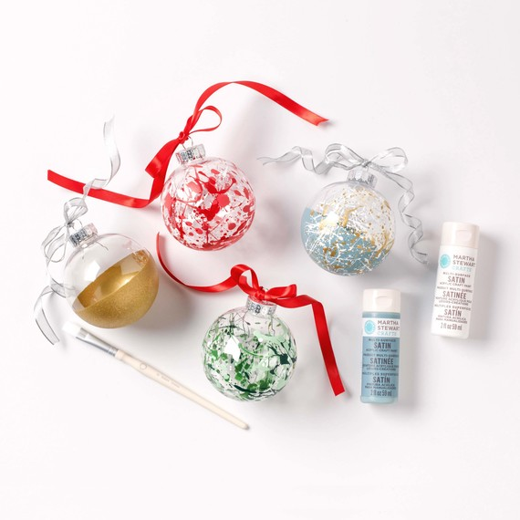 holiday project splatter ornaments