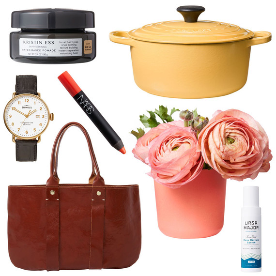 tastemaker products bag flowers watch lip pencil lotion dutch oven