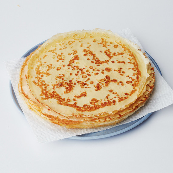 stack of crepes on plate