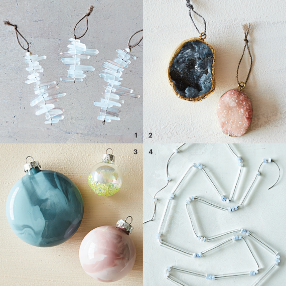 crystal inspired ornaments