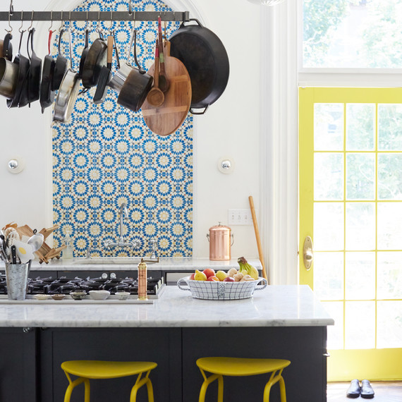 julia sherman kitchen yellow accents