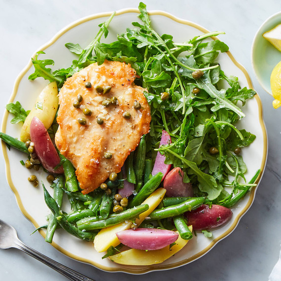 chicken piccata salad from marley spoon