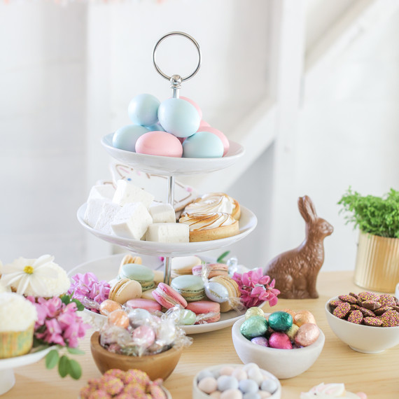 sugar and charm easter dessert bar close up