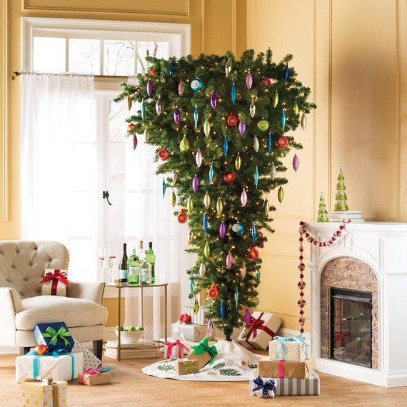 upside down christmas tree photography by wayfair - Wayfair Christmas
