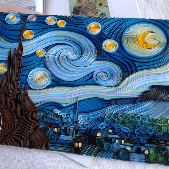 quilled paper Starry Night