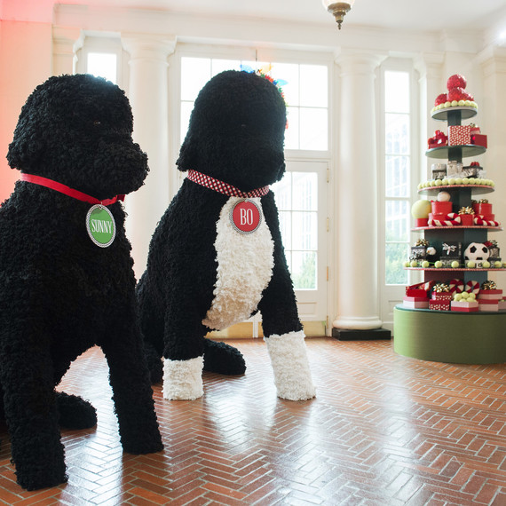 white house obama christmas bo replicas