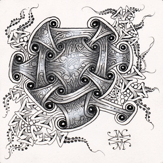 zentangle-design-tile