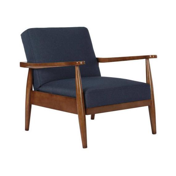 bhg blue chair midcentury modern
