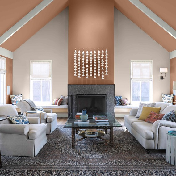 behr paint color combo brown orange