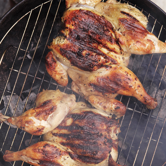 grilled spatchcocked chicken