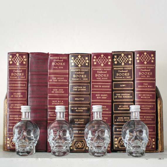 halloween rose gold dinner books decorations skulls