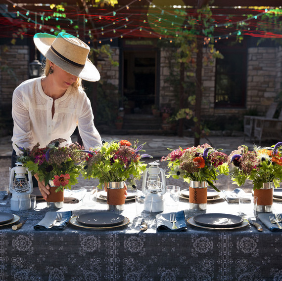 poett picnic table setting ranch life