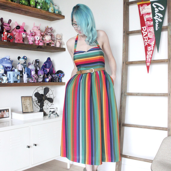 Sara Harvey and her modern toy collection