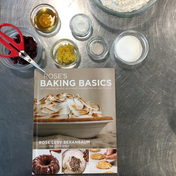 ingredients for scones and rose levy beranbaums cookbook