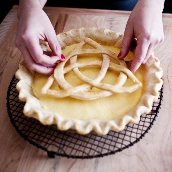 Transfer to prepared pie