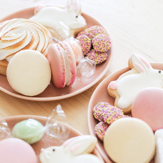 sugar and charm easter dessert plates