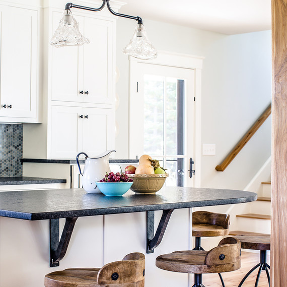 Embracing The Blue Kitchen: A Modern Maine Farmhouse Embraces Color And Style