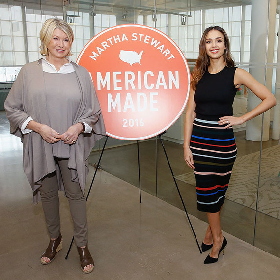 jessica alba and martha stewart at the 2016 american made summit