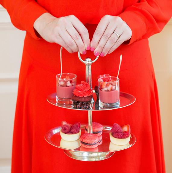 pink baby shower desserts