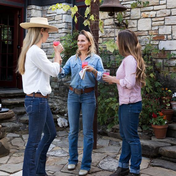 poett friends drinks women ranch life